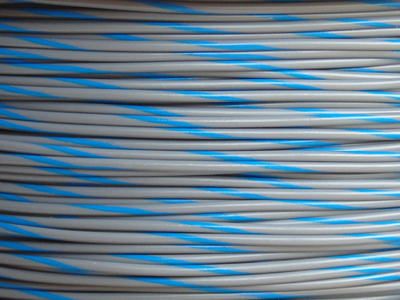 10 metres DCC Layout Wire Droppers 16 0.2 Grey Blue Bi-colour Spiral
