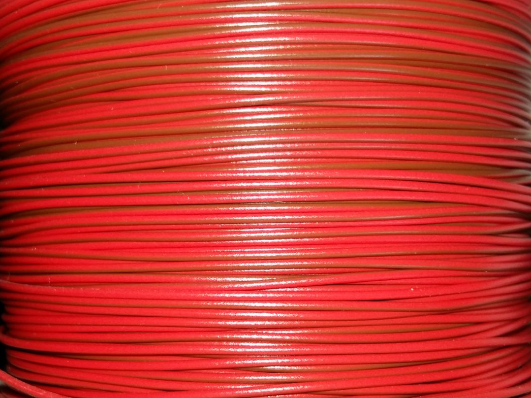 10m Bi Colour Layout Wire 14a 7 02 Red Brown Stripe For Electrical Wiring