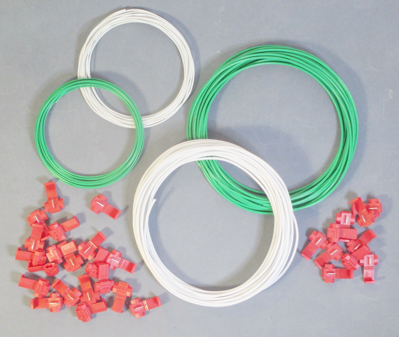 Small DCC Layout Wire Starter Kit Green & White - Track Bus Droppers ...